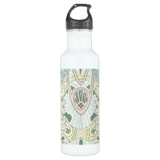 アールヌーボーのパステル調の華美で抽象的なデザイン 710ML ウォーターボトル
