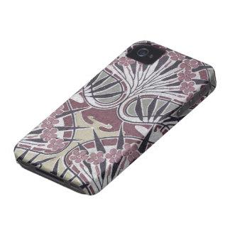 アールヌーボーのファンキーな暗い花柄 Case-Mate iPhone 4 ケース