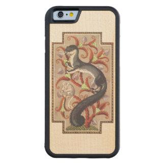 アールヌーボーのフェレット CarvedメープルiPhone 6バンパーケース