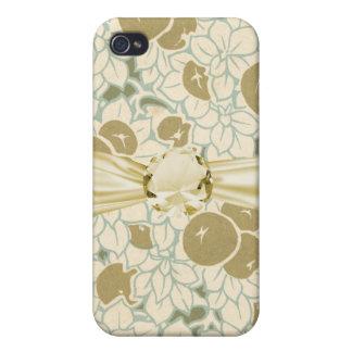 アールヌーボーのフルーツおよび花模様 iPhone 4 COVER