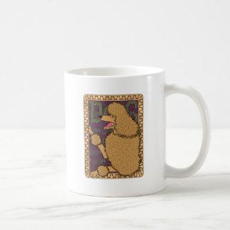 アールヌーボーのプードル コーヒーマグカップ