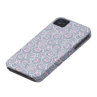 アールヌーボーのモダンなバラパターン Case-Mate iPhone 4 ケース