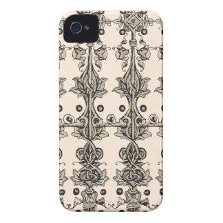 アールヌーボーの中世刺激を受けたなユニセックスなベージュデザイン Case-Mate iPhone 4 ケース