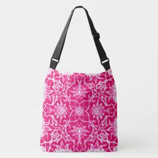 アールヌーボーの中国のなタイル-暗い赤紫色のピンク クロスボディバッグ