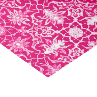 アールヌーボーの中国のなパターン-暗い赤紫色のピンク 薄葉紙
