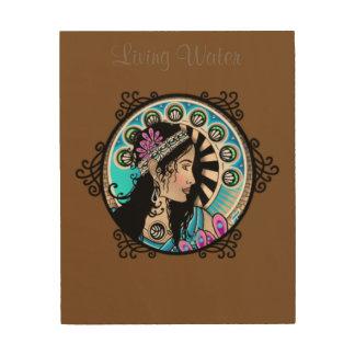 アールヌーボーの円の絵画のサマリア人の女性 ウッドウォールアート