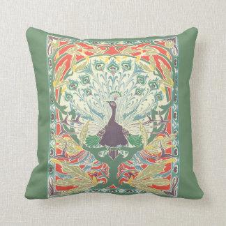 アールヌーボーの孔雀の枕 クッション