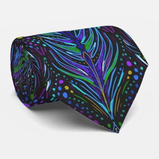 アールヌーボーの孔雀の羽のネクタイの人のタイ ネクタイ