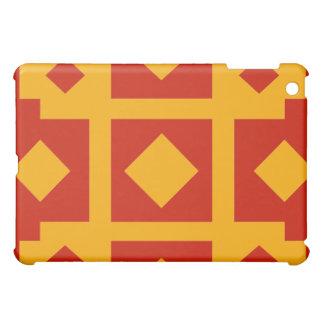 アールヌーボーの寄木細工の床の懸命貝のiPadの場合 iPad Miniケース