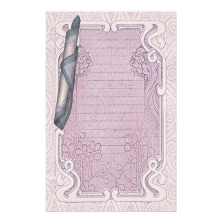 アールヌーボーの文房具-ガール著香料入りの秘密、 便箋