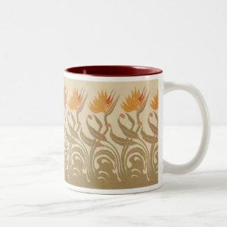 アールヌーボーの極楽鳥 ツートーンマグカップ