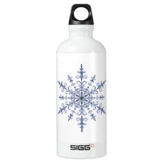 アールヌーボーの白の青い雪片のデザイン SIGG トラベラー 0.6L ウォーターボトル