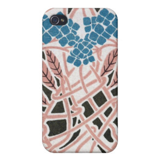 アールヌーボーの絡み合わせた美しく多彩な自然 iPhone 4/4S カバー