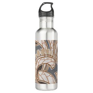 アールヌーボーの花および群葉のデザイン 710ML ウォーターボトル