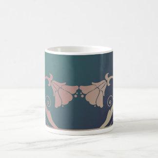アールヌーボーの花のマグ コーヒーマグカップ