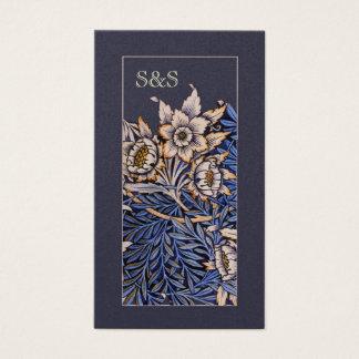 アールヌーボーの花の名刺 名刺