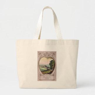 アールヌーボーの誕生日の谷のヴィグネット ラージトートバッグ