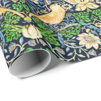 アールヌーボーの鳥および花のタペストリーパターン ラッピングペーパー