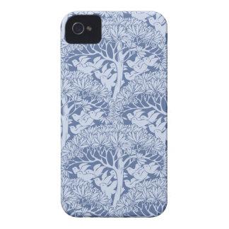アールヌーボーの鳥パターンブラックベリーのはっきりしたな箱 Case-Mate iPhone 4 ケース