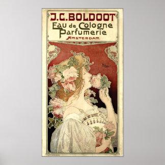 アールヌーボーのPrivat-Livemont著1897年の広告 ポスター