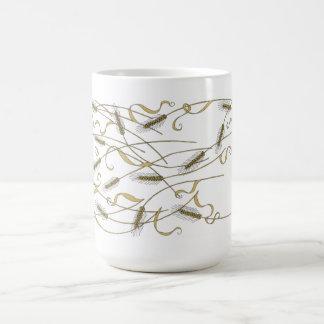 アールヌーボーはムギを分散させました コーヒーマグカップ