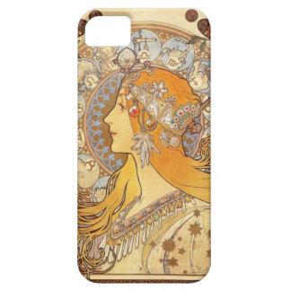 アールヌーボーアルフォンス島のミュシャの(占星術の)十二宮図のiPhoneの場合 iPhone SE/5/5s ケース