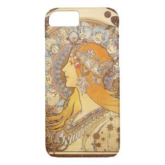 アールヌーボーアルフォンス島のミュシャの(占星術の)十二宮図のiPhone 7の場合 iPhone 7ケース