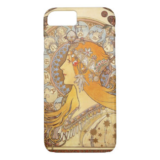 アールヌーボーアルフォンス島のミュシャの(占星術の)十二宮図のiPhone 7の場合 iPhone 8/7ケース