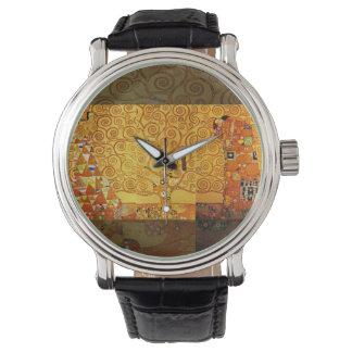 アールヌーボーグスタフのクリムトの生命の樹 腕時計
