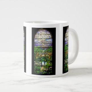アールヌーボー水庭のジャンボマグ ジャンボコーヒーマグカップ