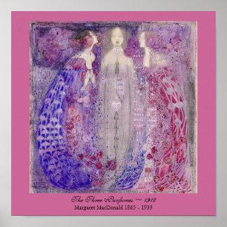 アールヌーボー3香水マルグレットMacDonald 1912年 ポスター