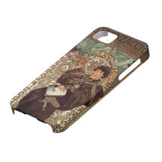 アールヌーボー-サラ・ベルナール及びドラゴン- 1 iPhone SE/5/5s ケース