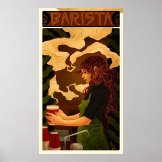 アールヌーボーBarista (ポスターかプリント) ポスター