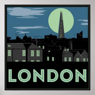 アール・デコのスタイルのロンドンポスター ポスター