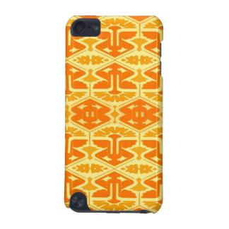 アール・デコの眼識-黄色およびオレンジ iPod TOUCH 5G ケース