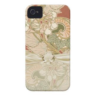 アール・デコの花柄 Case-Mate iPhone 4 ケース