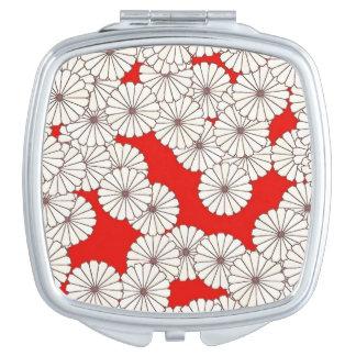 アール・デコの花模様-赤のクリーム