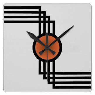 アール・デコ スクエア壁時計