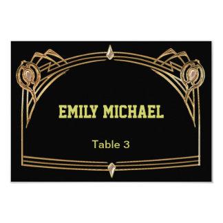 アール・デコGatsbyのスタイルの結婚式の座席表 カード