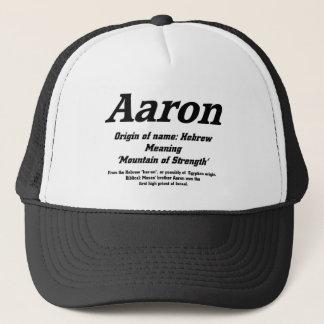 アーロン。 一流の意味帽子 キャップ