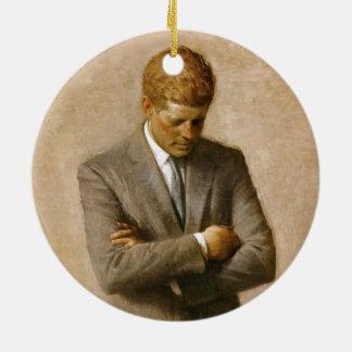 アーロンShikler著John F Kennedyの公式のポートレート セラミックオーナメント
