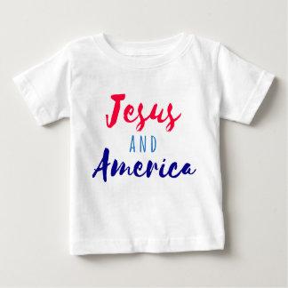 イエス・キリストおよびアメリカのTシャツ ベビーTシャツ