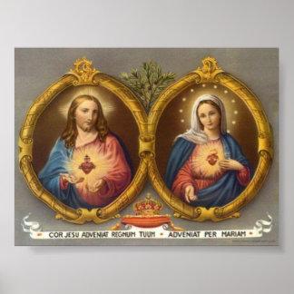 イエス・キリストおよびメリーの神聖な雄鹿 ポスター