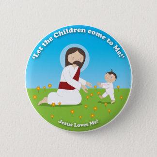 イエス・キリストおよび子供 缶バッジ