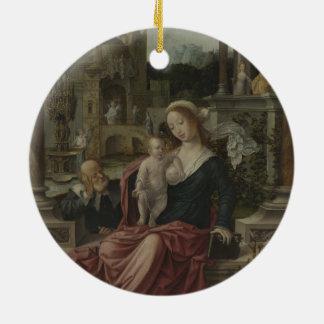 イエス・キリストおよび母メリー母乳で育てること セラミックオーナメント