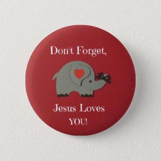 イエス・キリストがそれらを愛すること子供のためのメモ! 缶バッジ