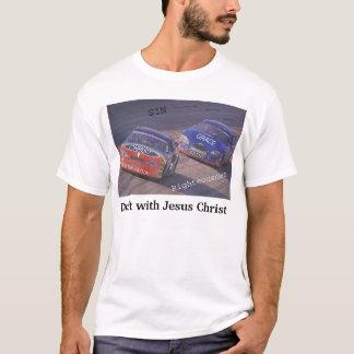 イエス・キリストが付いている草案 Tシャツ