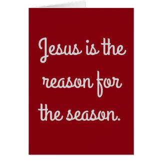"""""""イエス・キリストです季節の理由""""は カード"""