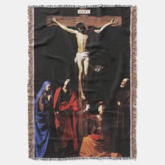 イエス・キリストのはりつけ及び聖母マリア及び聖ヨハネ スローブランケット