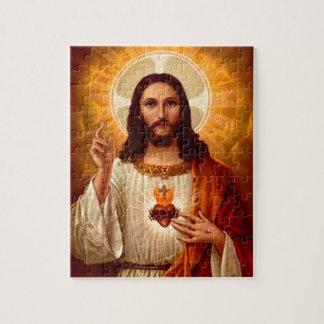 イエス・キリストのイメージの美しい宗教神聖なハート ジグソーパズル